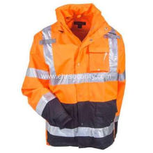 Men's Waterproof High-Visibility Orange Work Jacket